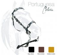 Portuguese single bridle with metal decorations